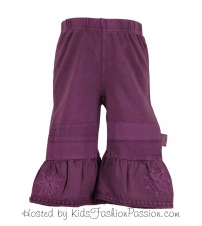 knit bottoms with woven bell bottoms-GBB4365SU24-praline