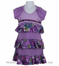 mixed print tiered knit dress-GBD4398SU24-delight
