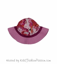 tropic print trimmed macaw floral sunhat-GBA4445SU24-pearly