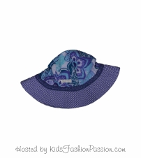 tropic print trimmed macaw floral sunhat-GBA4445SU24-sparkle